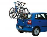 Thule kerékpártartó - ClipOn High 9105 - Autó hátsó ajtajára szerelve